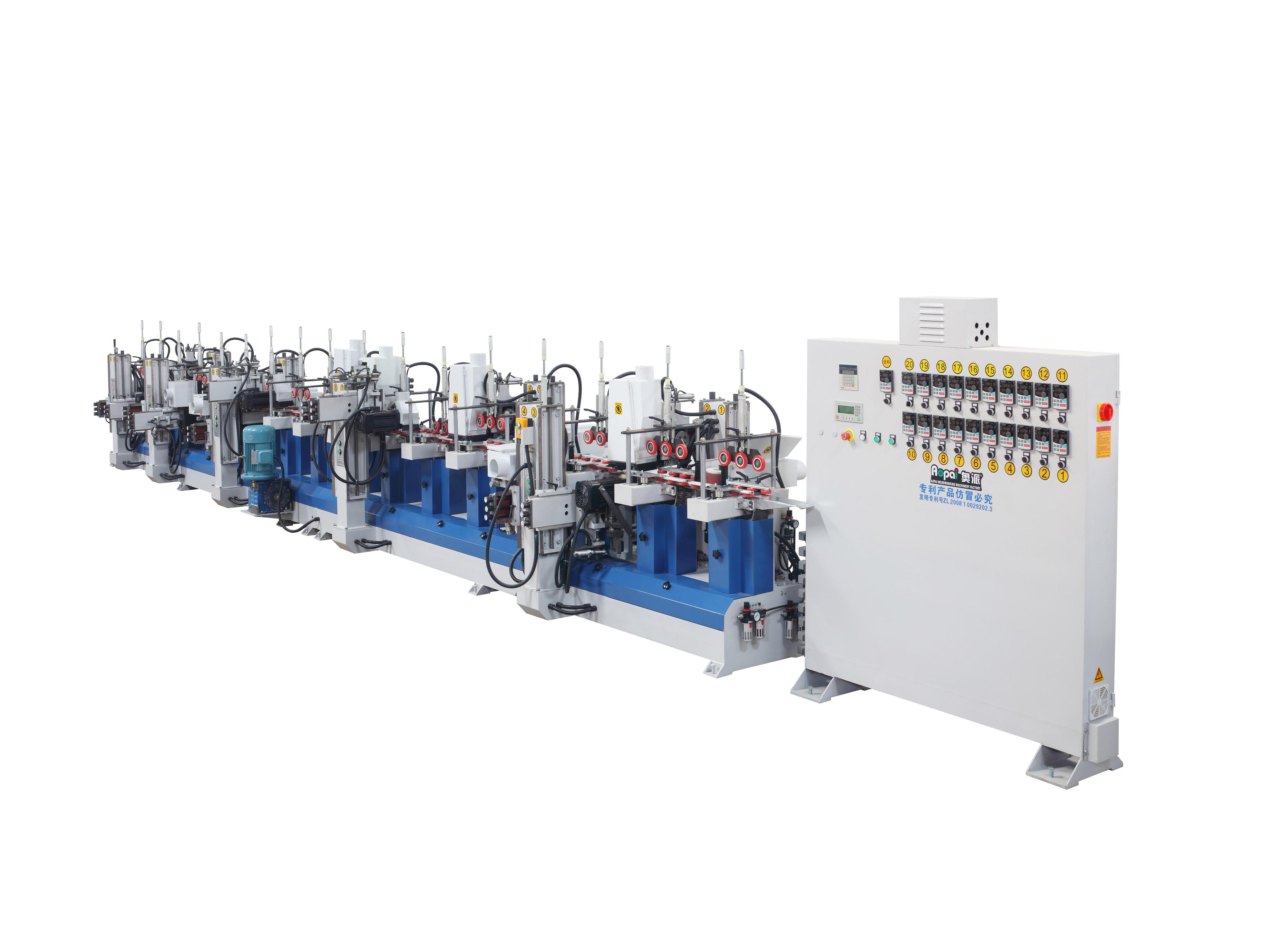 奥派 数控款砂光机 采用轮式侧压输送 木工机械设备生产产家 10W10H异形线条砂光机