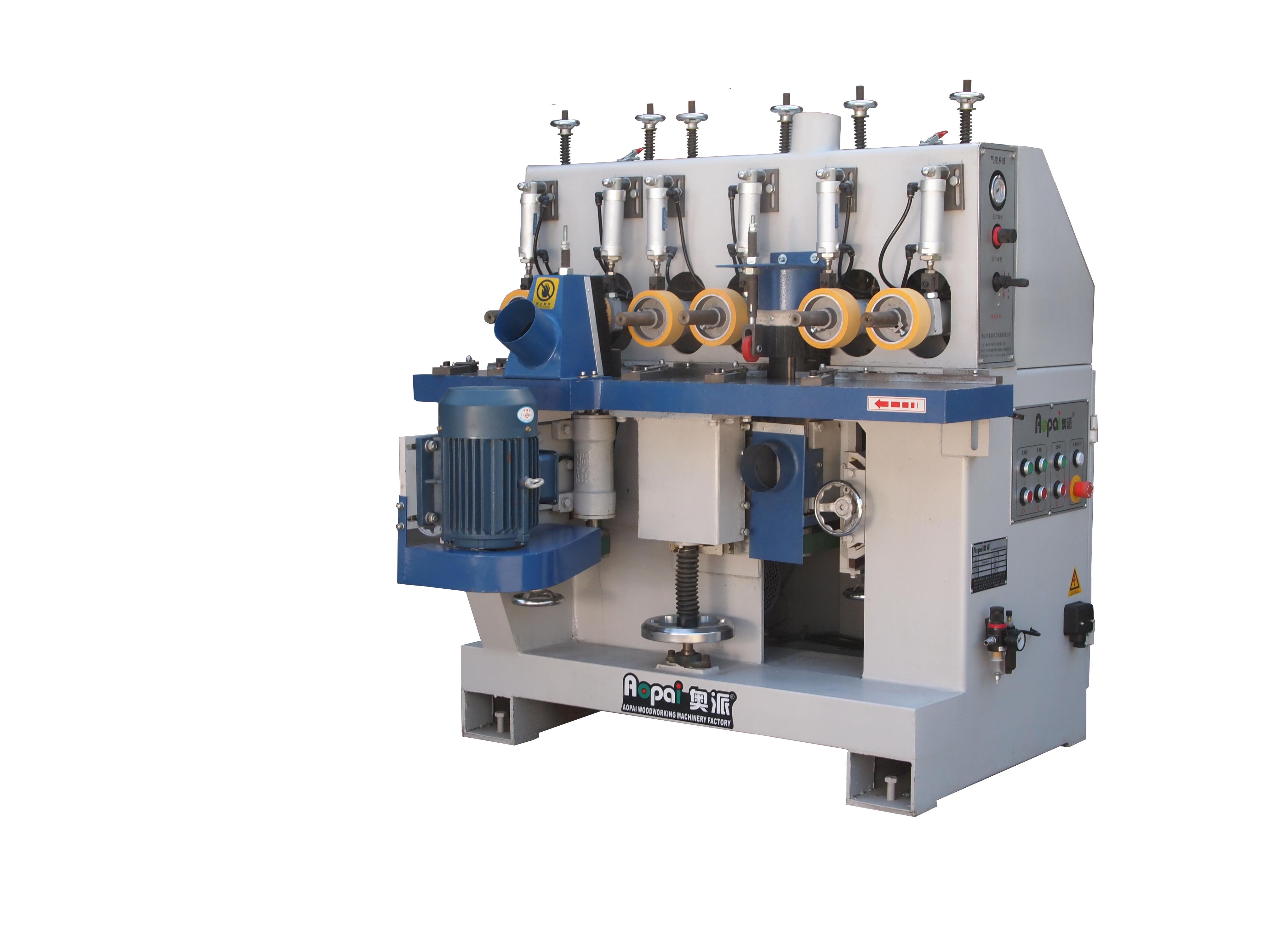 奥派 铣床和进料机台合二为一 双边铣(3549) 木工机械设备生产产家-砂光机价格