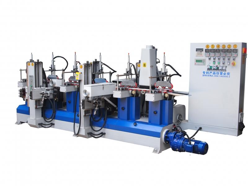 奥派专利款砂光机 涡轮涡杆式传动佛山 木工机械设备生产产家3H3W异形线条砂光机