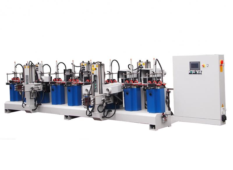 四川奥派市场款触摸屏木线砂 佛山木工机械生产产家 4H5W异形线条砂光机